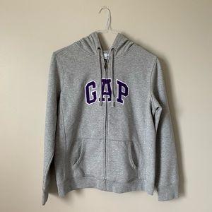 Basic Grey Gap Full Zip Hoodie